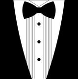 Flat black and white tuxedo bow tie Royalty Free Stock Images