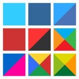 Flat blank square icon set web button Royalty Free Stock Photo