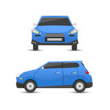 Flat blue car vehicle type design sign style vector generic classic business illustration isolated. Royalty Free Stock Photography