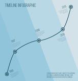 Flat blue diagonal timeline infographic Royalty Free Stock Photo