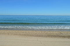 A Flat Blue Sea Royalty Free Stock Images