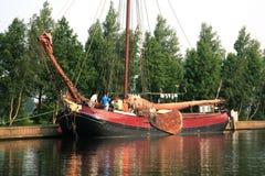 Flat boat, Netherlands, Heeg Royalty Free Stock Photography