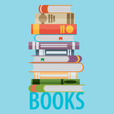 Flat book icon, vector eps10 illustration Royalty Free Stock Images