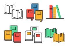 Flat book symbols  set Royalty Free Stock Photo