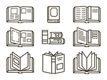 Flat books icons Royalty Free Stock Photos