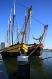 Flat-bottomed  boats Royalty Free Stock Photo
