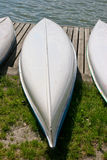 Flat-bottomed boats ashore for Stock Photo