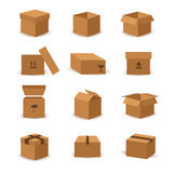 Flat box and packing vector icon Royalty Free Stock Photo