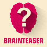 Flat brainteaser icon concept. vector illustration Royalty Free Stock Image