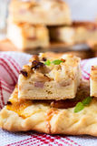 Flat bread with bacon, cauliflower, cheese Royalty Free Stock Image