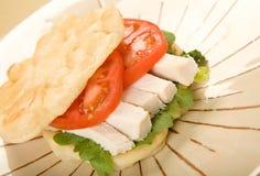 Flat Bread Chicken Sandwich Stock Image