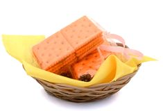 Flat Bread Crackers Stock Images
