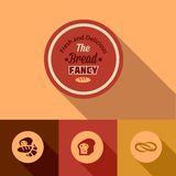 Flat bread design elements Royalty Free Stock Photography