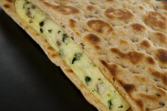 Flat bread egg breakfast sandwich Stock Image
