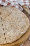 Flat bread made from rye flour with dill, selective focus Stock Photo