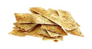 Flat Bread Strips on White Royalty Free Stock Photo