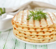 Flat bread Stock Image