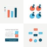 Flat brochure elements. Stock Photos
