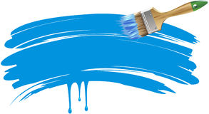 Flat brush with blue trail Stock Photos
