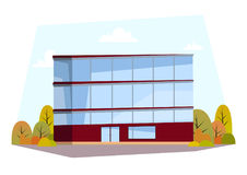Flat building. Design for your website, brochures, etc. Vector illustration. Flat building. Design for your website, brochures etc Royalty Free Stock Photos