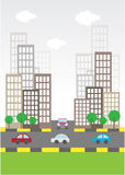 Flat Building Icon or local city preview. vector illustration Stock Photography