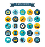 Flat building icons Royalty Free Stock Images