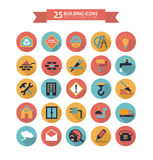Flat building icons Royalty Free Stock Image