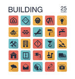 Flat building icons Stock Photo