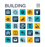 Flat building icons Stock Images