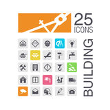 Flat building icons Royalty Free Stock Photos