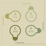 Flat bulb infographic Royalty Free Stock Image