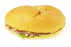 Flat burger bun Stock Photos