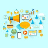 Flat Business And Technology Concept Stock Photography