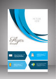 Flat business brochure ,flyer ,magazine ,catalog or poster cover Stock Photo