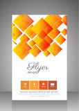 Flat business brochure ,flyer ,magazine ,catalog or poster cover Stock Images