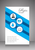 Flat business brochure ,flyer ,magazine ,catalog or poster cover Stock Photos
