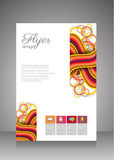 Flat business brochure ,flyer ,magazine ,catalog or poster cover Royalty Free Stock Image
