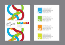 Flat business brochure ,flyer ,magazine ,catalog or poster cover Stock Photography