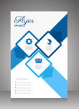 Flat business brochure ,flyer ,magazine ,catalog or poster cover Stock Image