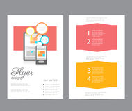 Flat business brochure ,flyer ,magazine ,catalog or poster cover Royalty Free Stock Images