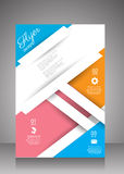 Flat business brochure ,flyer ,magazine ,catalog or poster cover Royalty Free Stock Photo