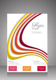 Flat business brochure ,flyer ,magazine ,catalog or poster cover Royalty Free Stock Photos