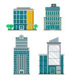 Flat Business Buildings Stock Photos