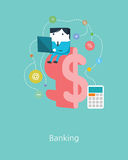 Flat Business character Series.business banking concept Stock Image
