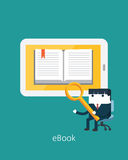 Flat Business character Series.business ebook concept Stock Photo