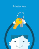 Flat Business character Series. business master key concept Royalty Free Stock Photography