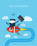 Flat Business character Series.business meeting concept Stock Images