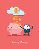 Flat Business character Series. business saving money concept Stock Photography