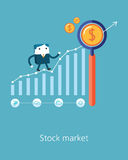 Flat Business character Series.business stock market concept Royalty Free Stock Photography