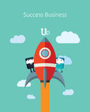 Flat Business character Series.business success concept Royalty Free Stock Photography